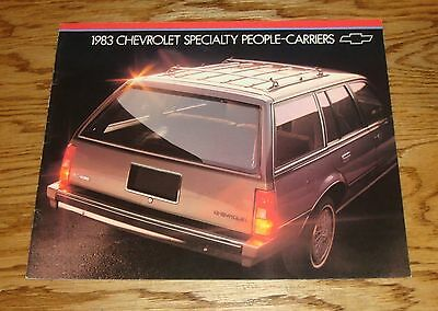 Original 1983 Chevrolet Specialty People Carriers Wagon Sales Brochure 83 Chevy