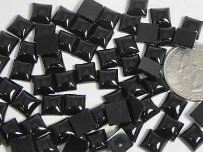 Natural Square Black Onyx Dyed Agate Cabochons Cabs stones gemstones gems