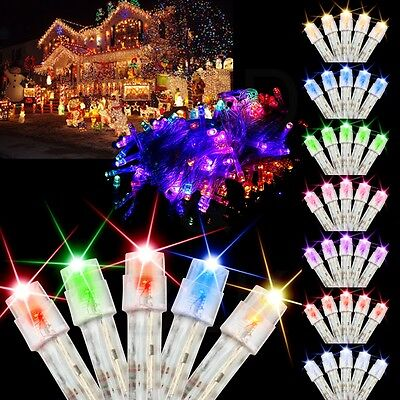 10M 100 LED Bulbs Christmas Tree Fairy Wedding Party String Lights Xmas Decor