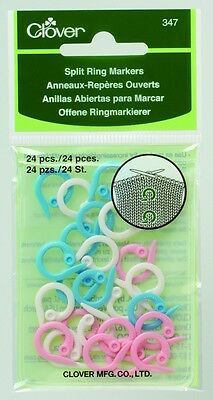 Clover Knitting Split Ring Stitch Markers - per pack of 24 (CL347)