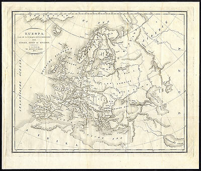 Antique Map-EUROPE-Van Baarsel-Bohn-1813