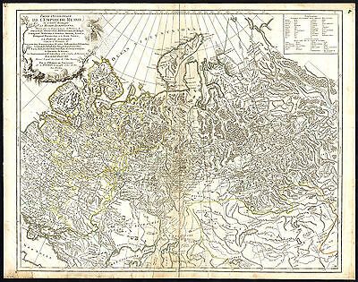 Antique Map-FINLAND-RUSSIAN EMPIRE-POLAND-BLACK SEA-CASPIAN-De Vaugondy-1770