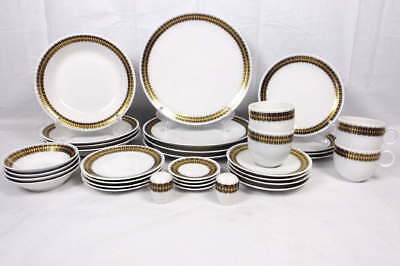 Lot 4 (8) Pc. Place Setting Heritage House German China Arabesque-Plates,Bowls++