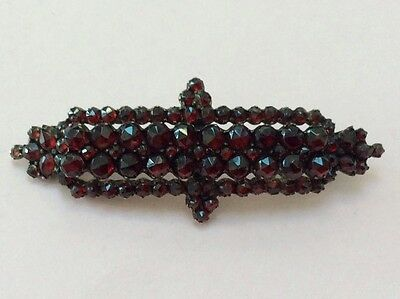 Antique Austrian Garnet Costume Brooch Pin 1800