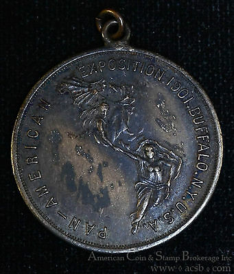 1901 Pan American Exposition Buffalo New York 32mm white Metal Medal (1742).