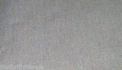 2 Yards Vintage Woven Wool Fabric 16146 Light Blue