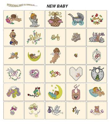 BABY NEW. CD or USB machine embroidery designs files most formats celebrations