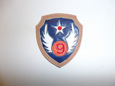 b4803 WW2 US Army Air Force Air Transport Command Patch Leather on Leather R13D