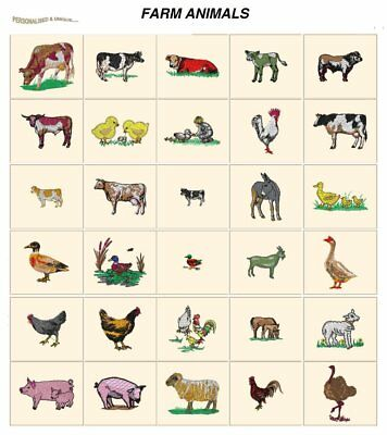 FARM ANIMALS. CD or USB machine embroidery designs files most formats pes etc