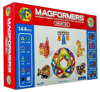Magformers 63083 Smart Set 144pc Magnetic Building Creativity Magnets