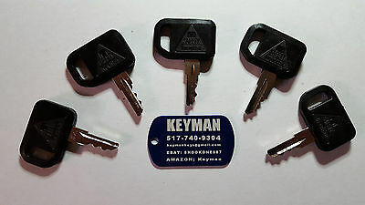 (5) Keys Fit John Deere Gator Mower Tractors Bobcat Cub Cadet Ditch Witch M4-#28