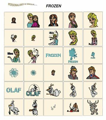 FROZEN. CD or USB machine embroidery designs files Disney most formats