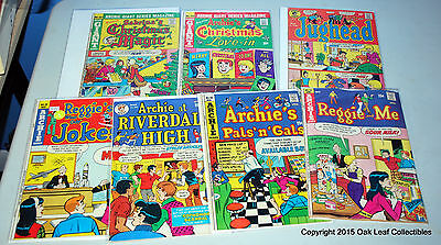 Lot of 7 Different: Archie Comic Books from the 70's