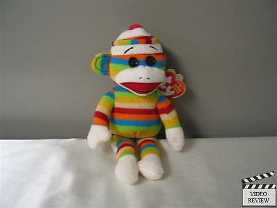 Socks the Sock Monkey Rainbow Ty Beanie Babies
