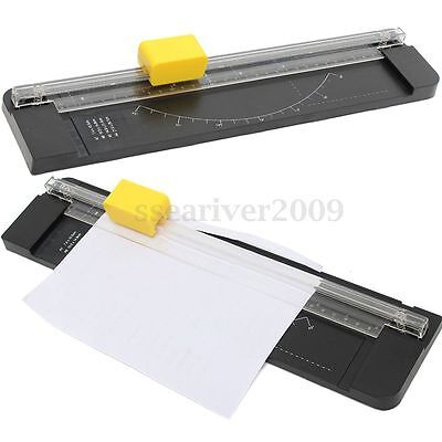 Protable A4 Guillotine Slim Ruler Photo Paper Cutter Trimmer Office Tool w/Blade