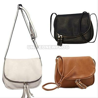 Women Leather Tassel Handbag Crossbody Bag Lady Messenger Tote Purse Satchel Hot