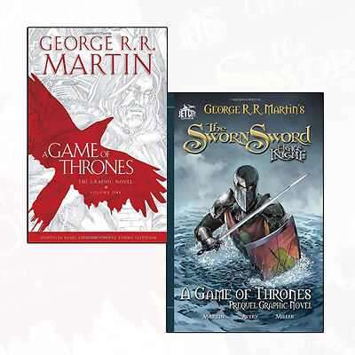 A Game of Thrones Collection George R. R. Martin 2 Books Set The Sworn Sword NEW