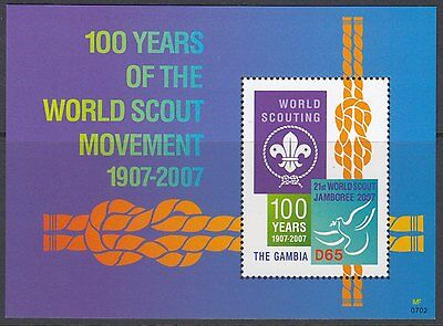 SCOUTS : 2007 GAMBIA Centenary of Scouting M/Sheet SGMS5002MNH