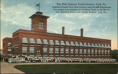 York PA 20th Century Tooth Factory Dental Dentist Related c1910 Postcard