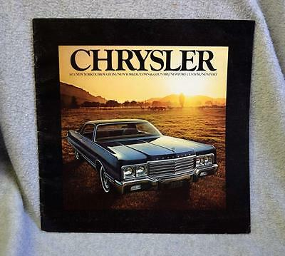 1973 Chrysler New Yorker Town & Country Newport Sales Brochure