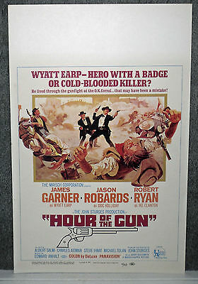 HOUR OF THE GUN original 1967 ROLLED movie poster JAMES GARNER/WYATT EARP