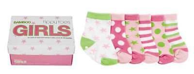 NEW Baby Girls Bamboo Fibre Socks 0-12 Months