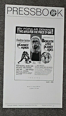 PLANET OF THE APES/BENEATH THE PLANET OF THE APES original 1971 combo pressbook