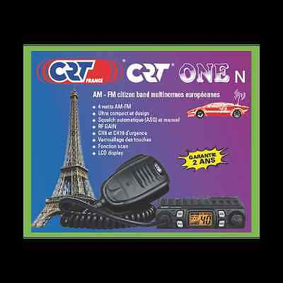 CRT ONE N Multistandard AM FM - world's smallest CB Radio micro mini compact UK