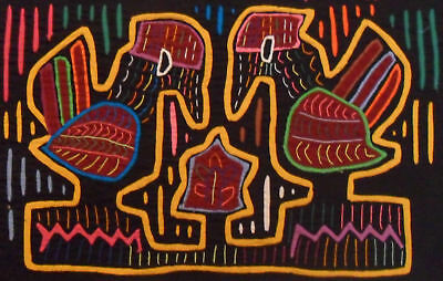 Kuna Tribe Birds Mola Panama Art 15.60987