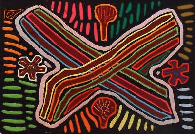 Kuna Tribe Abstract Mola Panama Art 15.60997