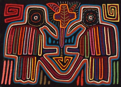 Kuna Tribe Birds Mola Panama Art 15.60967