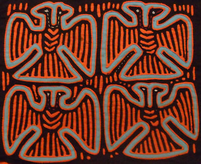 Kuna Tribe Bird Mola Panama Art 15.60917