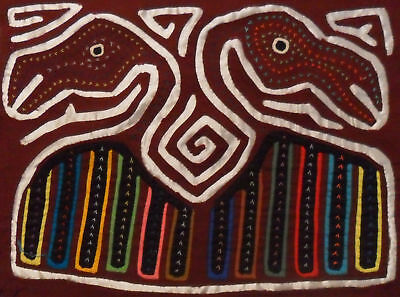 Kuna Tribe Bird Mola Panama Art 15.60906