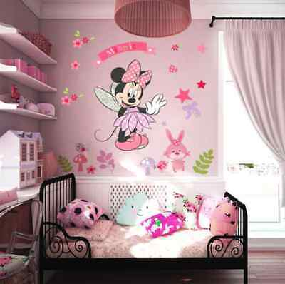minnie maus disney wandtattoo wandsticker xxl 110cm x 80cm. Black Bedroom Furniture Sets. Home Design Ideas