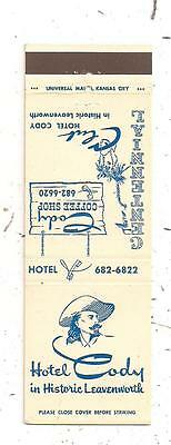Hotel Cody Leavenworth KS Cody Coffee Shop Matchcover 120315