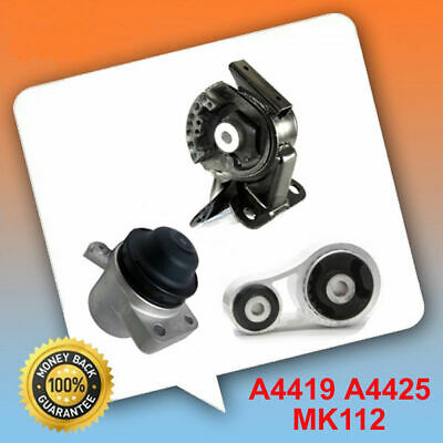 For Mazda CX7 2.3L 2.5L Engine Motor Mount Set 3PCS 4419 4425 MK130 M977