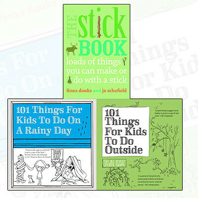 101 Things For Kids to Do(Outside & Rainy Day) Collection Stick Book 3 Books Set