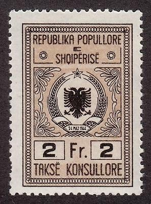 Albania Peoples Republic Consular Revenue Bft #5 MNH 2fr type of 1946 no ovpt