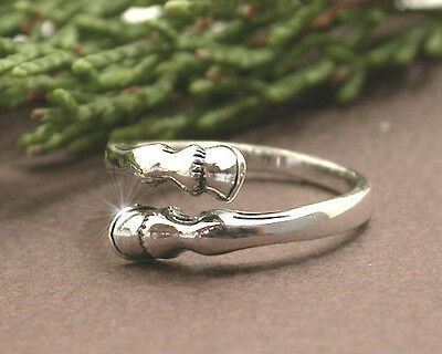Horse & Western Jewellery Jewelry Horse Hooves Ring Sterling Silver Size 8/p