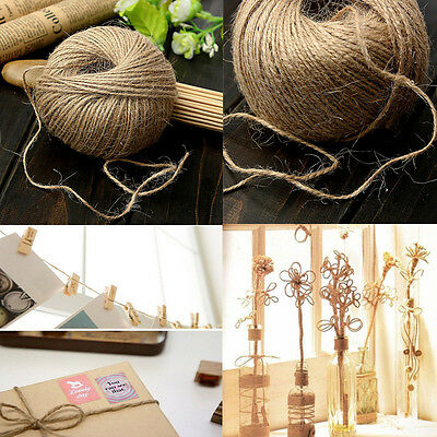 30M Vintage Natural Jute Twine Rustic String Cord Wrap Craft Making Decor Shabby