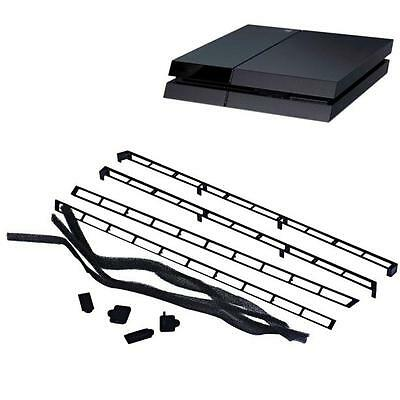 Dust Dirt Proof Prevent Cover Case Filter Mesh Kit DIY for PS4 Console Black
