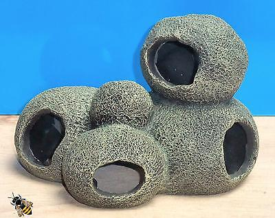 Cave Rock Hide Pebble Tunnel Aquarium Ornament Fish Tank Decoration New