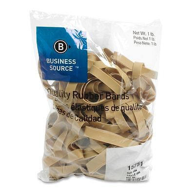 Business Source 15751 Rubber Bands, Size 84, 1 lb Bag, 3-1/2 x 1/2 , Natural