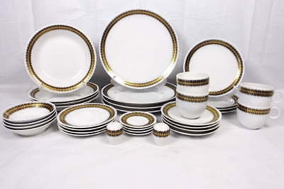 Lot 4 (8 Pc) Place Setting Heritage House German China Arabesque-Bowls,Plates++