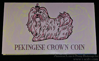 Gibraltar 1 Royal 1994 PM Proof copper-nickel KM#246 Pekingese Dog Crown.