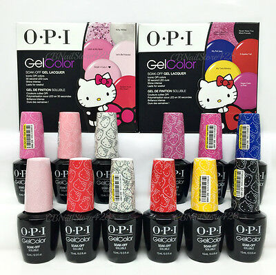 OPI Gelcolor Soak-off - HELLO KITTY - Pick Any Color/Top/Base 0.5oz
