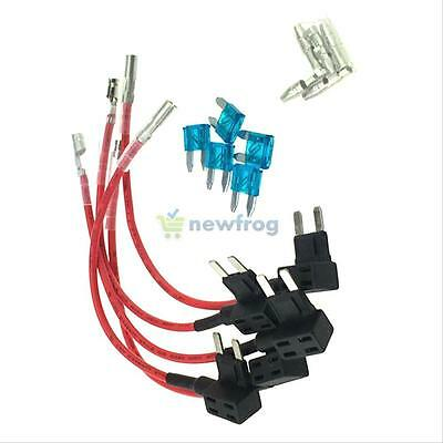 Car Auto 5 x 15A Add Circuit Mini Blade Fuse Box Holder ACS ATO ATC Piggy Tap