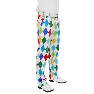 Royal and Awesome Novelty Golf Trousers (King of Diamonds)