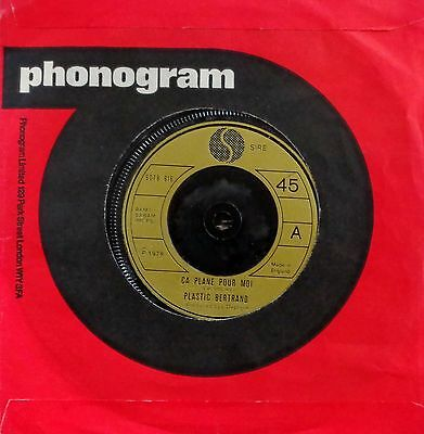 "HB2 - Plastic Bertrand - Ca Plane Pour Moi (6078 616) UK 7"" in phonogram *SALE*"