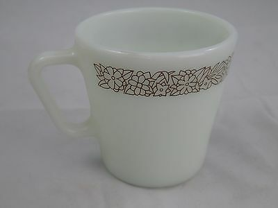 Vtg PYREX WOODLAND BROWN D Handle 10 Oz Mugs Coffee Cup 1410 REPLACEMENT